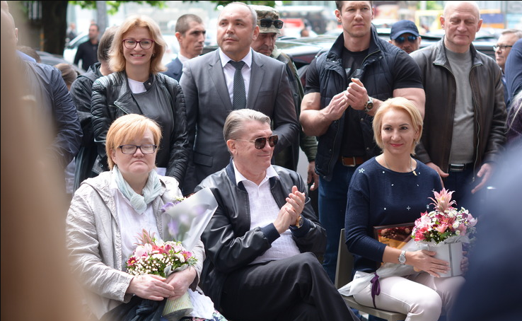 The stars of Oleg Blokhin, Elena Podrushnaya and star of memory Valery Lobanovsky were opened in Kiev on the